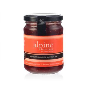 Alpine Berry Farm Raspberry Rhubarb Vanilla Jam 285g