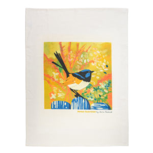 Fiona Roderick Superb Fairy Wren Tea Towel