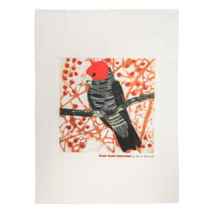 Fiona Roderick Gang Gang Cockatoo Tea Towel