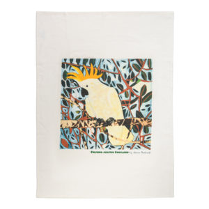 Fiona Roderick Sulphur Crested Cockatoo Tea Towel
